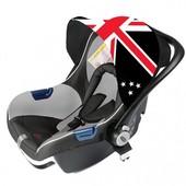 Автокресло M0+ Britain flag Babysing а460а Китай серый 12122804