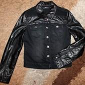 Пиджак кожаный на девочку 152-158 р