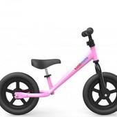 Беговел 12 Kiddi Moto Super Junior металлический, розовый, велобег, без педалей, велосипед