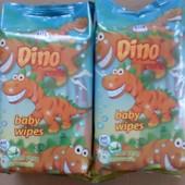 Детские влажные салфетки Dino smile 72 шт.Дино