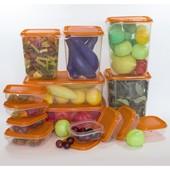 Хит продаж Набор контейнеров 17 штук Pruta оранжевый, от Икеа ikea. Отличный выбор. В наличии!