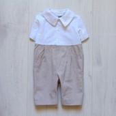 Льняной ромпер для маленького модника. Little Darlings. Размер 12 месяцев