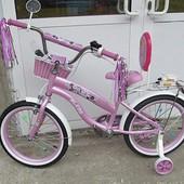 Супер новинка!вухколесный велосипед для девочек Rueda на 12, 16,18, 20 д