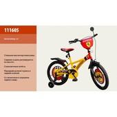 Детский Велосипед Ferrari 2-х колес 16'' 111605 Baby Tilly