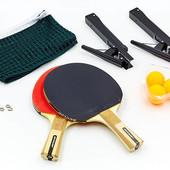 Набор для настольного тенниса Dunlop 679168 G-Force: 2 ракетки + 3 мяча + сетка с креплением с чехло
