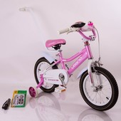 Детский двухколесный велосипед 14 N-100 pink