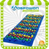 Массажный коврик с цветными камнями «Морской берег», 150х40см