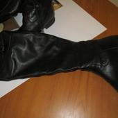 Сапоги ботфорты кожа 37 размер