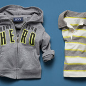 Комплект худи и футболка-поло на мальчика 18-24мес Childrensplace в наличии