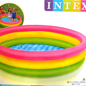 Надувной бассейн Радуга Intex 57422, диаметр 147 см.