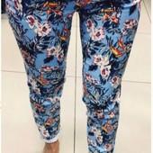 Размеры 42-48 Стильные яркие женские брюки на лето
