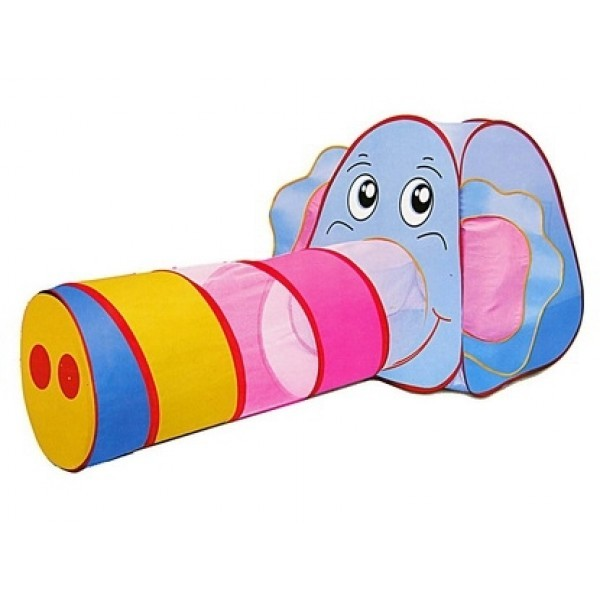 Детская игровая палатка с тоннелем слоник 889-87 в  фото №1