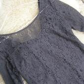 Шикарное кружевное платье M-L-размер