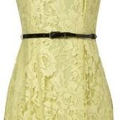 Кружевное платье желтого цвета XS-S-размер