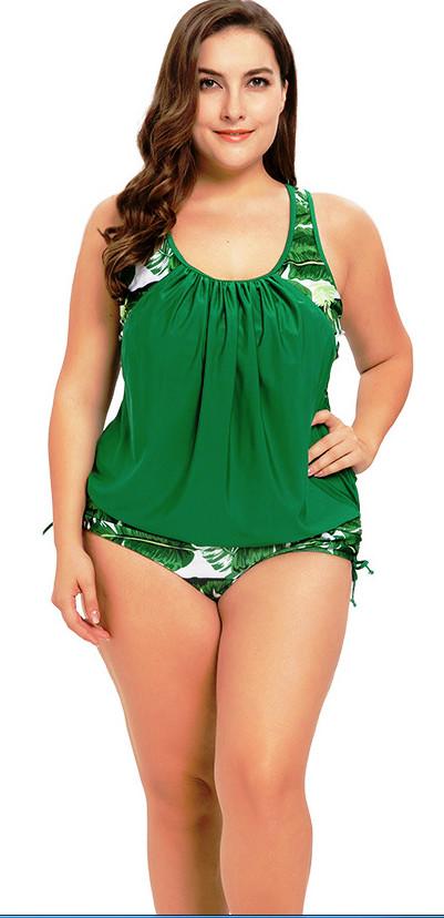 Купальник сдельный. большие размеры до 5xl. купальный костюм листья. фото №1