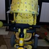 Трехколесный велосипед Azimut Trike с родительской ручкой на 1-4 года