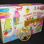 Набор для лепки, тесто, пластилин фабрика мороженого, MK 0683