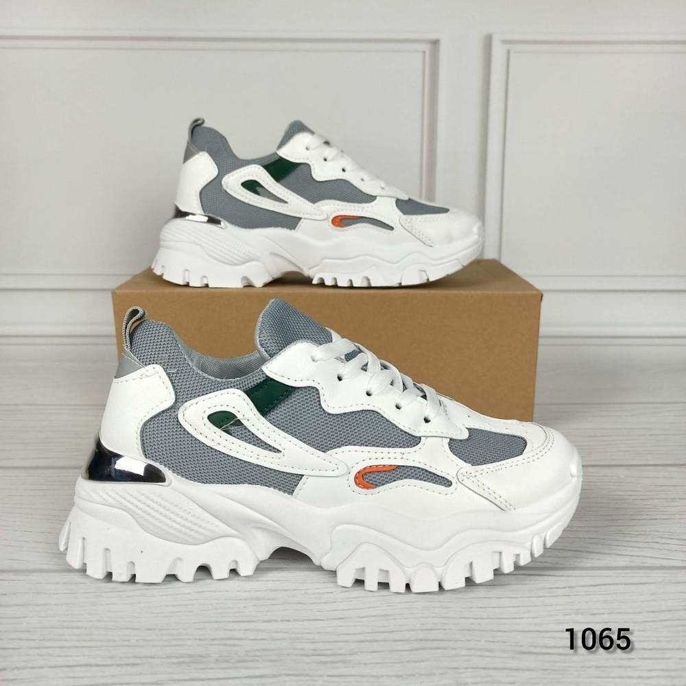 Женские белые кроссовки на платформе кросівки жіночі білі на платформі фото №1