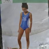 Купальник для девочки синий цельный Alive 128см