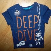 H&M стильная футболка на мальчика 2-4 года