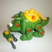 Конструктор динозавр Стегозавр, с набором инструментов, Happy Kid Toy