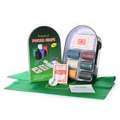 Настольная игра D16771 покер, фишки, карты-2 колоды, в кор-ке (металл), 24-15-6 см