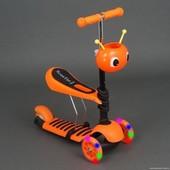 Самокат беговел Бест Скутер 4115 Best Scooter детский с наклоном руля 2 в 1