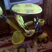 Детский велосипед Smart Trike Zoo лягушонок с родительской ручкой.