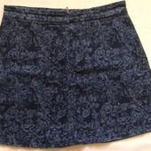 Джинсовая юбка трапеция в цветочек Oasis ( M-L )