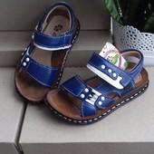 Скидка!!!!Стильные мега-удобные кожаные босоножки-сандалии 26 р (17,2 см)