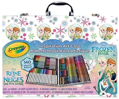 Crayola набор для детского творчества холодное сердце 140 предметов в чемодане frozen art case style фото №1