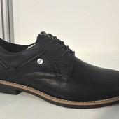 Туфли стильные (черные и синие)