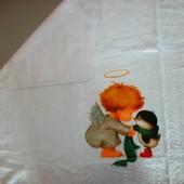 Крыжма плед полотенце для крещения раз 110х95 см Китай