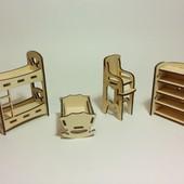 Набор мебели Детская спальня для PetShop, зверюшек, пони, творчества