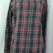 Фирменна мужская рубашка в клеточку TU размер L.