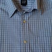 Фирменная мужская рубашка  в клетку