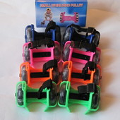 Ролики на кроссовки колеса PVC свет SC17061 на пятку