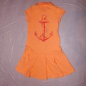 р. 122-128-134, 6-8 лет, брендовое платье Esprit спортивное платье-поло хлопок