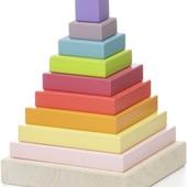 Деревянная пирамидка LD-5 12329 Cubika кубика дерево пирамида левеня