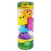 Crayola Игрушки-брызгалки для ванны bathtime pals squirt and float toys squeeze 'n squirt!