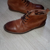 ботинки р41 стелька 27см . River Island кожа