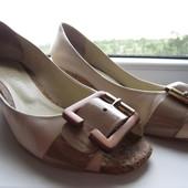 Туфли кожаные на пробке Staccato, разм 38, стелька 24,2 см