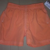 Распродажа - Плавки шорты мальчику на рост 101-107 см. оранжевые от In Extenso боксерки плавки-шорты
