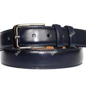 Синий мужской ремень модный и современный (П-056)