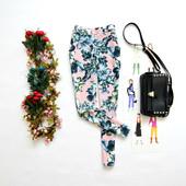 Женские штаны в цветочек