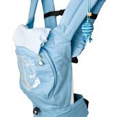"""Эрго рюкзак-переноска """"Якорь"""" с сеточкой для проветривания спинки (голубой)"""