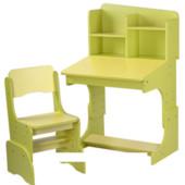 Детская парта растишка F 2071A-6-5, желто-салатовая ***