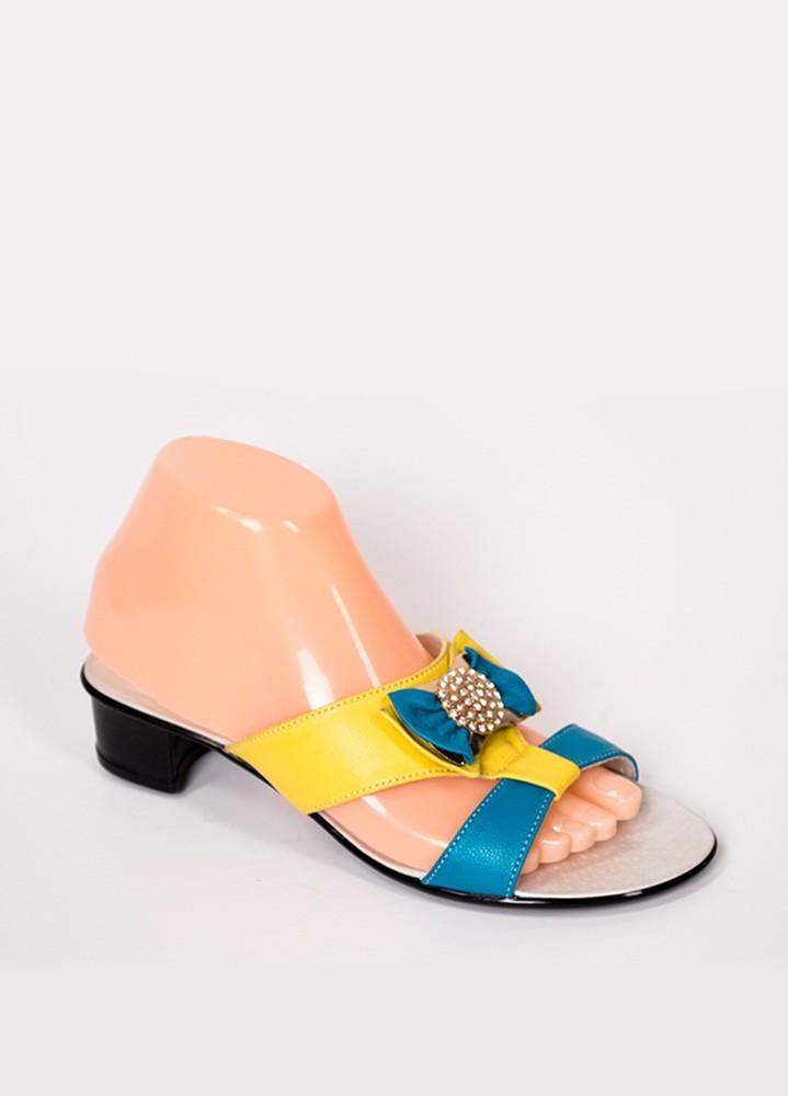 Кожаная летняя женская обувь(шлепанцы) фото №1