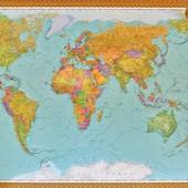 Карта мира большая на  украинском языке