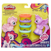 Игровой набор пластилина Play-doh знаки отличия май литл пони Твайлайт Спаркл и Пинки пай. Оригинал